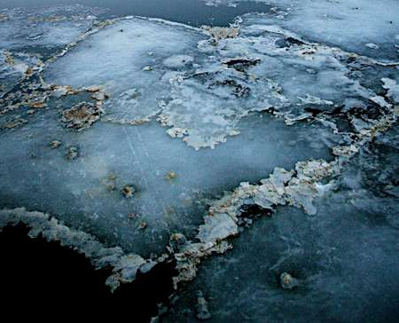 Ice Pillows, Charles River, Newton, MA